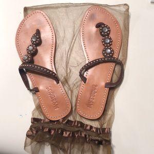 Mystique sandals- gently worn